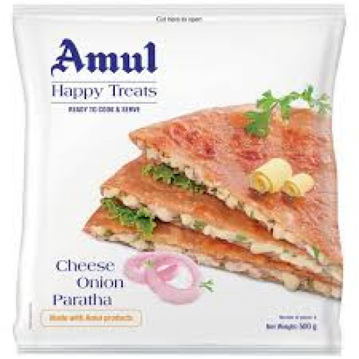AMUL CHEESE ONION PARATHA 500G