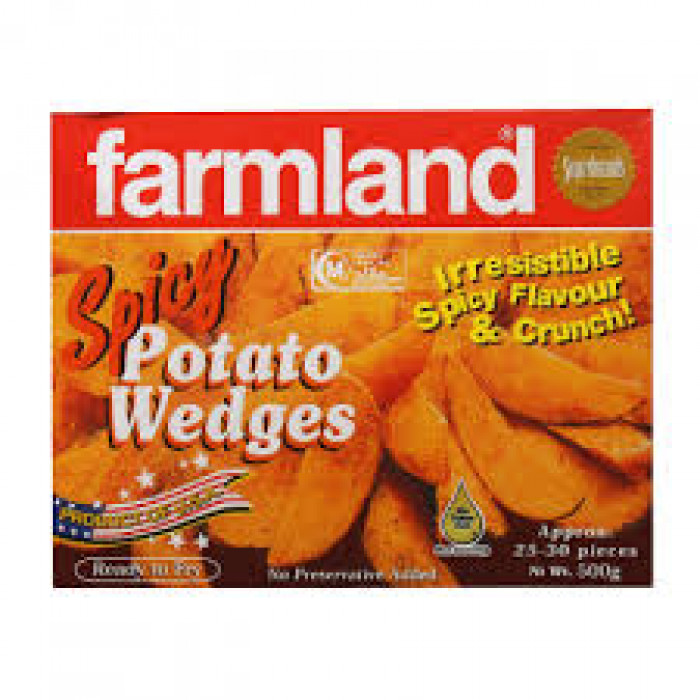 FARMLAND SPICY POTATO WEDGES 500G