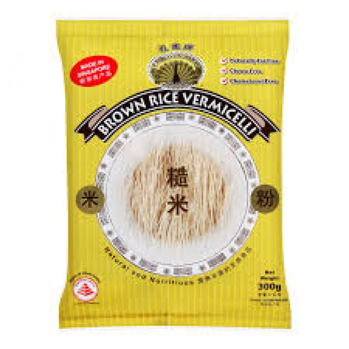 PEACOCK BROWN RICE VERMICELLI 300G